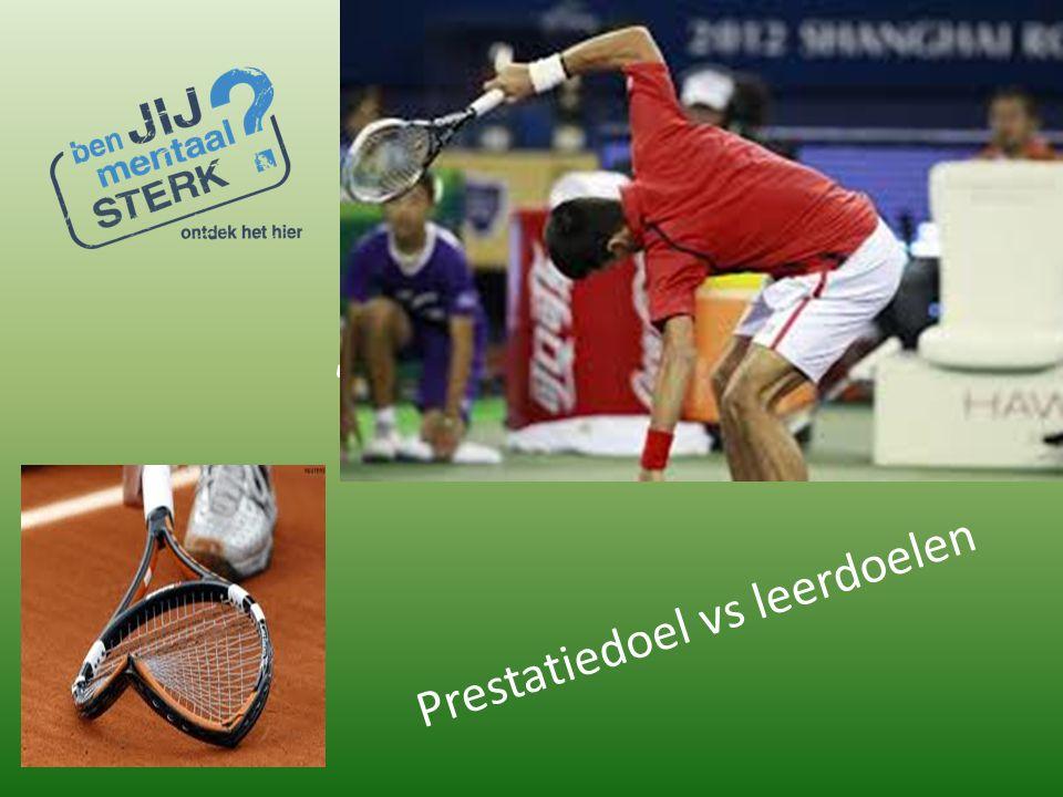 """Mentaal """"Tennis is een mentaal spelletje"""" Prestatiedoel vs leerdoelen"""
