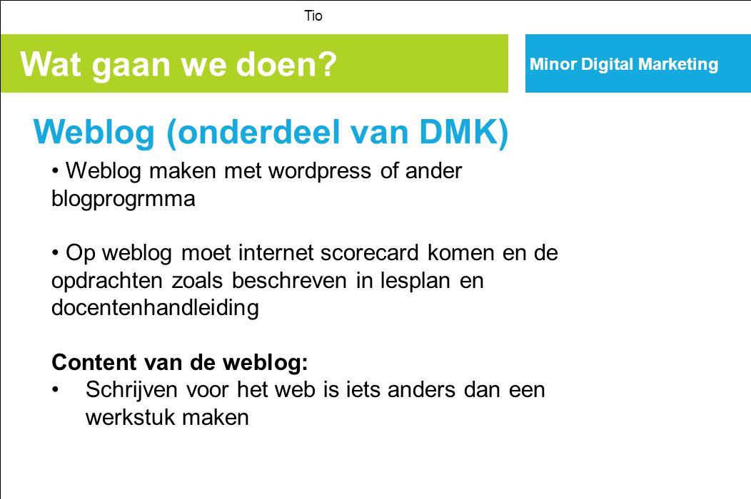 Minor Digital Marketing Wat gaan we meer doen.