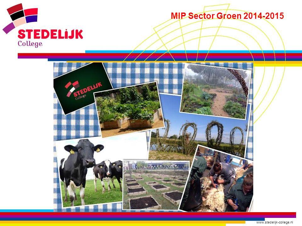 www.stedelijk-college.nl MIP Sector Groen 2014-2015 Stedelijk college is aangesloten bij de Vereniging Buitengewoon Groen (VBG).