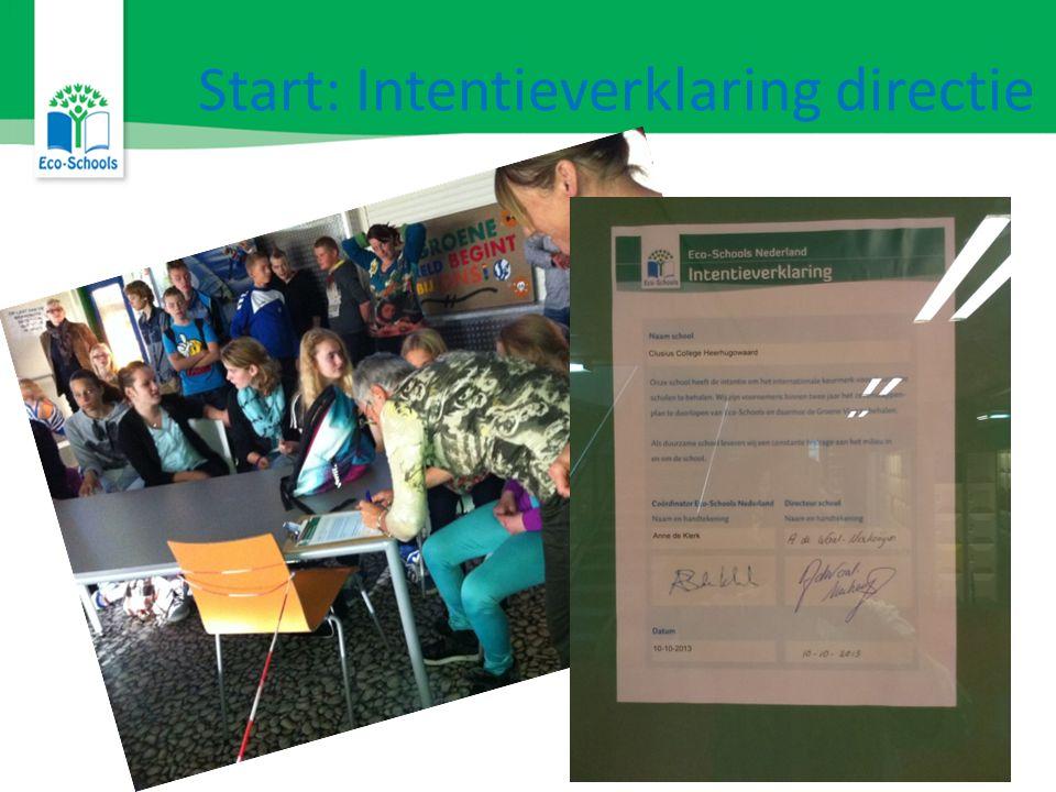 Kom naar de Infostand Of bel/mail naar: Dorien Reiche info@degroenereiger.nl 06-52022555 www.ecoschools.nl Twitter: @EcoSchoolsNL Facebook.com/EcoSchoolsNL Meer weten?