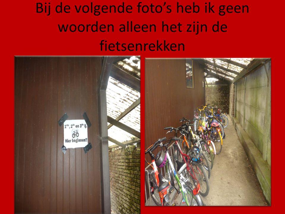 Bij de volgende foto's heb ik geen woorden alleen het zijn de fietsenrekken