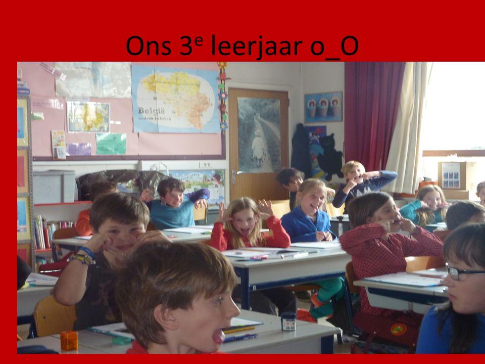 Ons 3 e leerjaar o_O