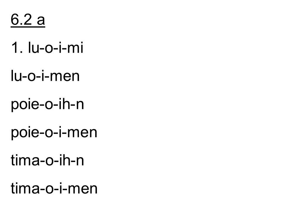 dido-ih-n dido-i-men e-ijh-n e-ij-men 2. contracte + athematische: -ih- in het enk.