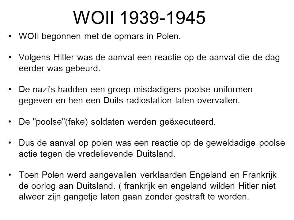 Bondgenootschappen Geallieerden: Engeland, SU(1941) en de VS(1941) Asmogendheden: Duitsland, Italië (Japan).
