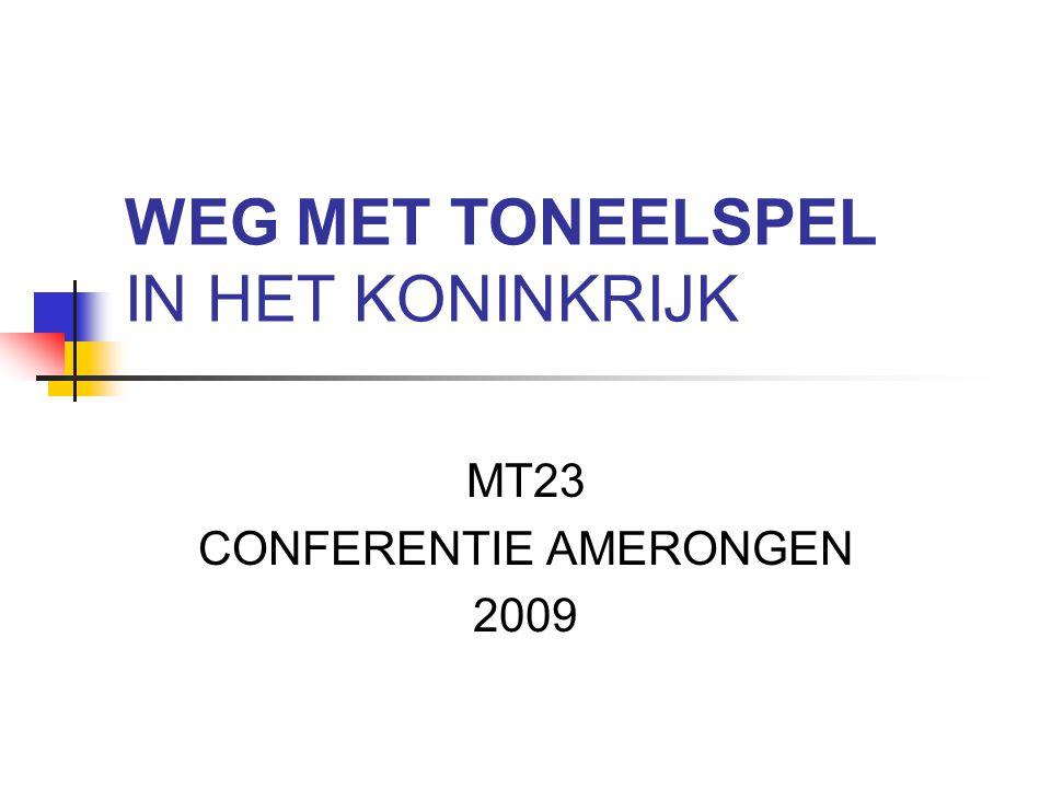 WEG MET TONEELSPEL IN HET KONINKRIJK MT23 CONFERENTIE AMERONGEN 2009