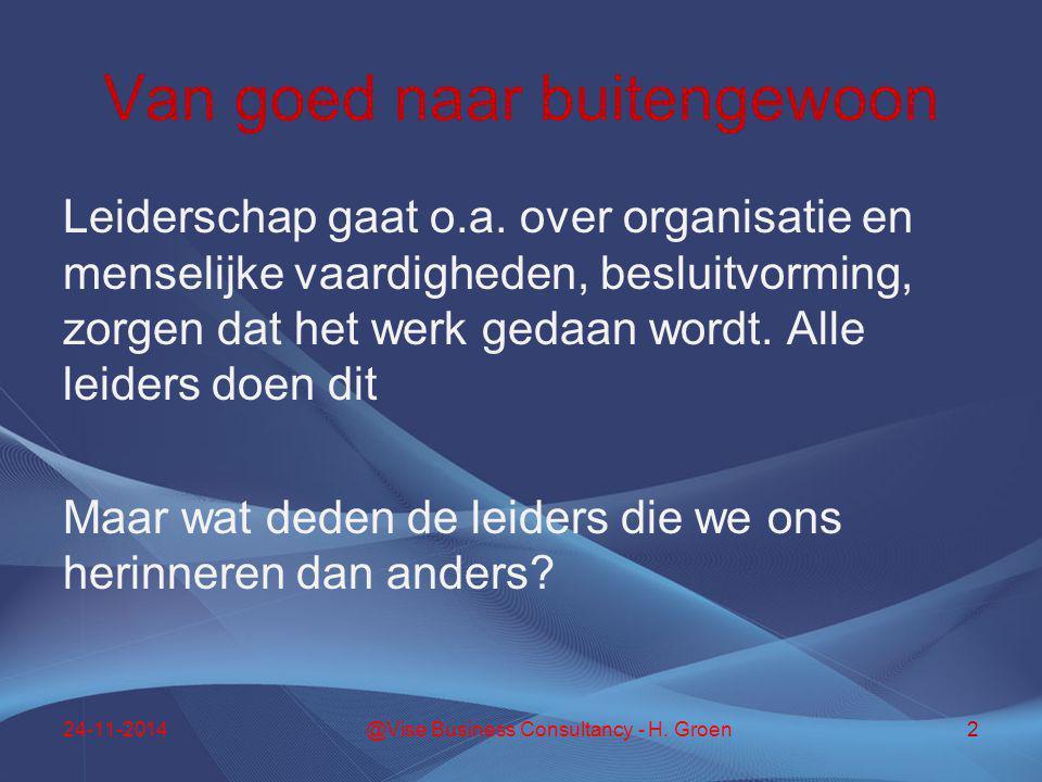 Autonomie en zelfstandig Organisaties excelleren pas werkelijk als de medewerkers betrokken en toegewijd zijn.