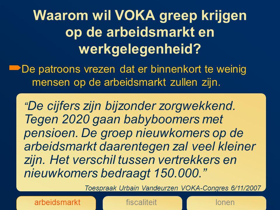 Waarom wil VOKA greep krijgen op de arbeidsmarkt en werkgelegenheid.