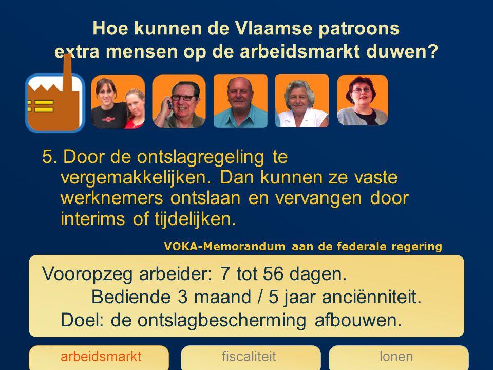 Hoe kunnen de Vlaamse patroons extra mensen op de arbeidsmarkt duwen.