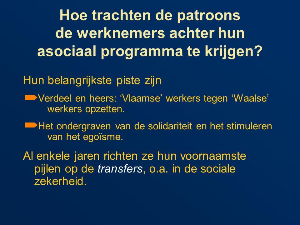 Hoe trachten de patroons de werknemers achter hun asociaal programma te krijgen.