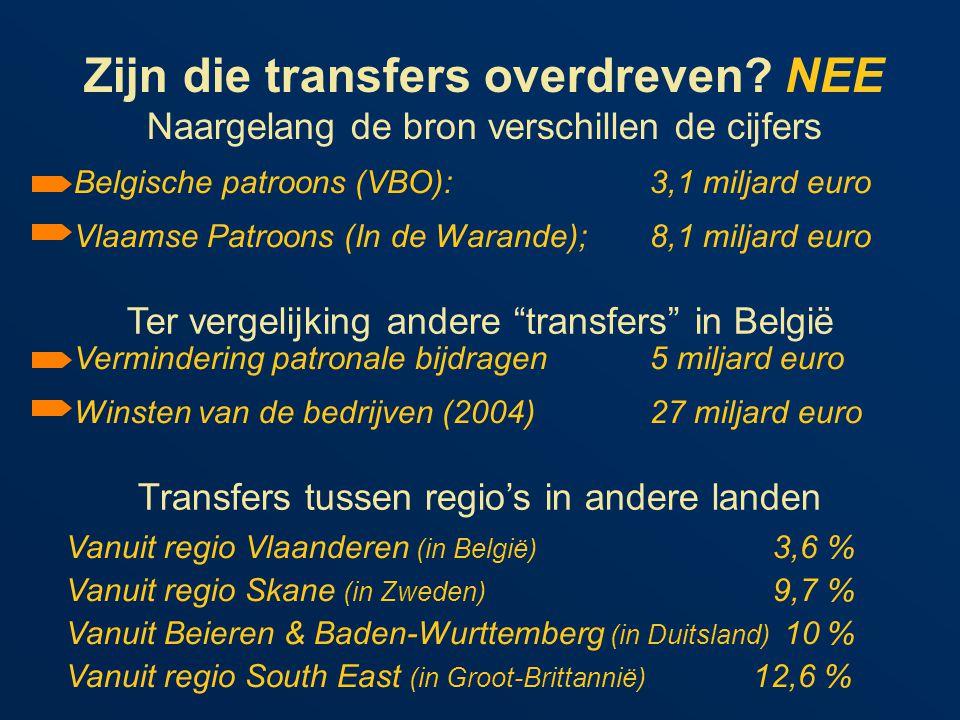 Zijn die transfers overdreven.