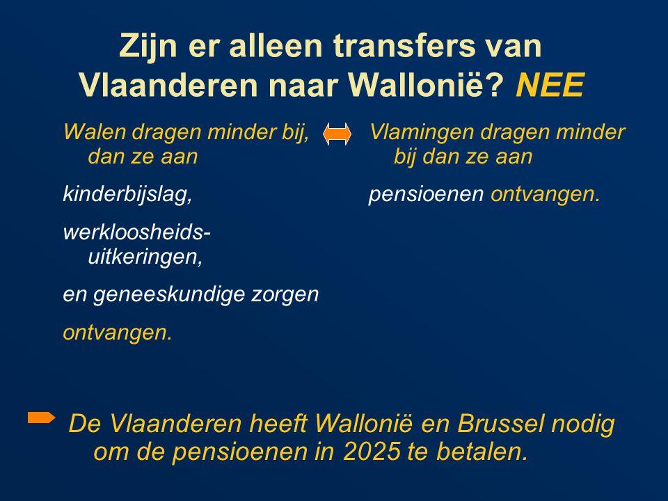Zijn er alleen transfers van Vlaanderen naar Wallonië.