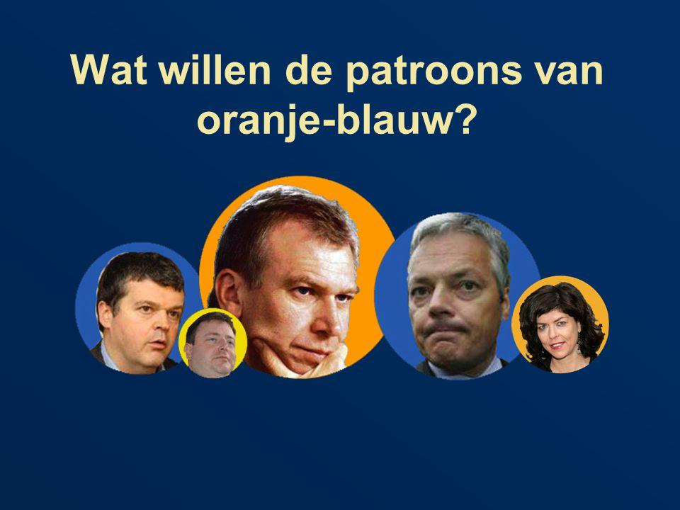 Wat willen de patroons van oranje-blauw