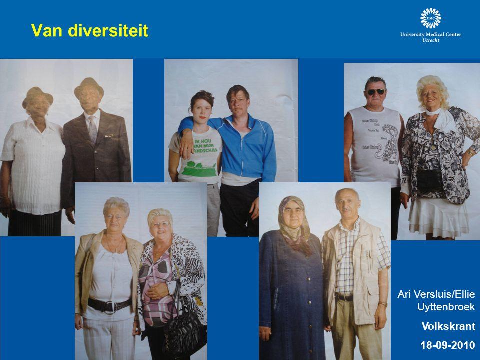Van diversiteit Ari Versluis/Ellie Uyttenbroek Volkskrant 18-09-2010