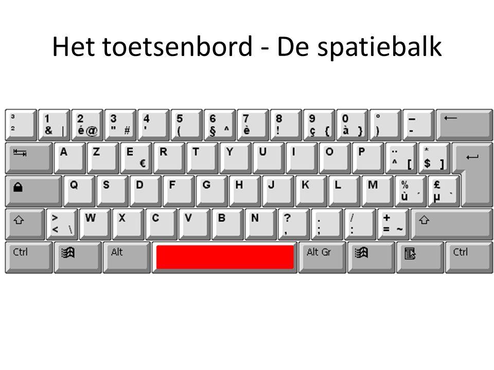 Het toetsenbord - De spatiebalk