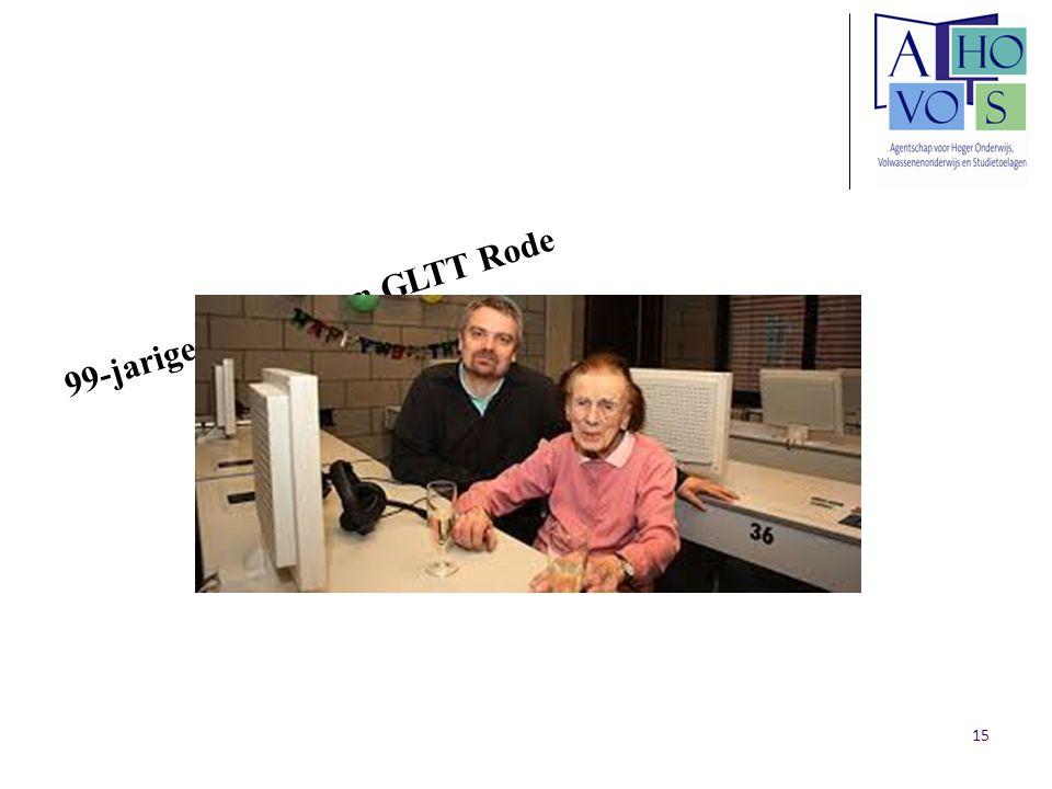 99-jarige cursiste aan GLTT Rode 15