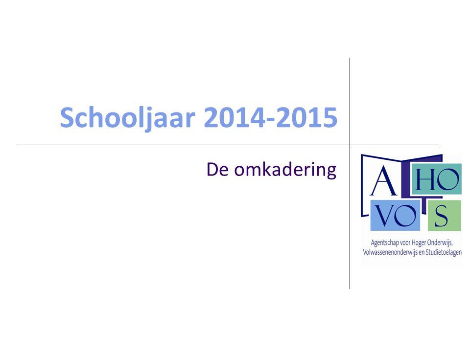 Schooljaar 2014-2015 De omkadering
