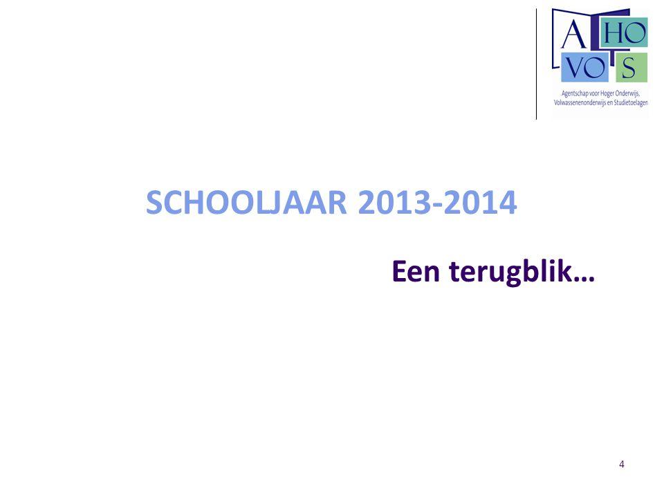 SCHOOLJAAR 2013-2014 Een terugblik… 4