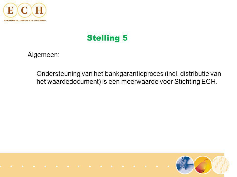 Algemeen: Ondersteuning van het bankgarantieproces (incl.