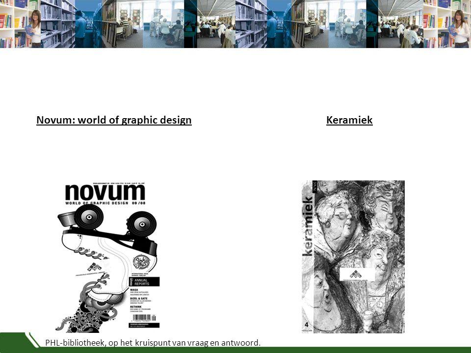PHL-bibliotheek, op het kruispunt van vraag en antwoord. KeramiekNovum: world of graphic design
