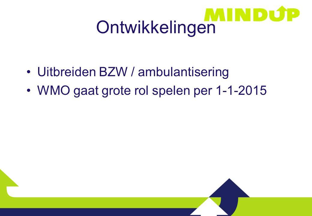 Ontwikkelingen Uitbreiden BZW / ambulantisering WMO gaat grote rol spelen per 1-1-2015