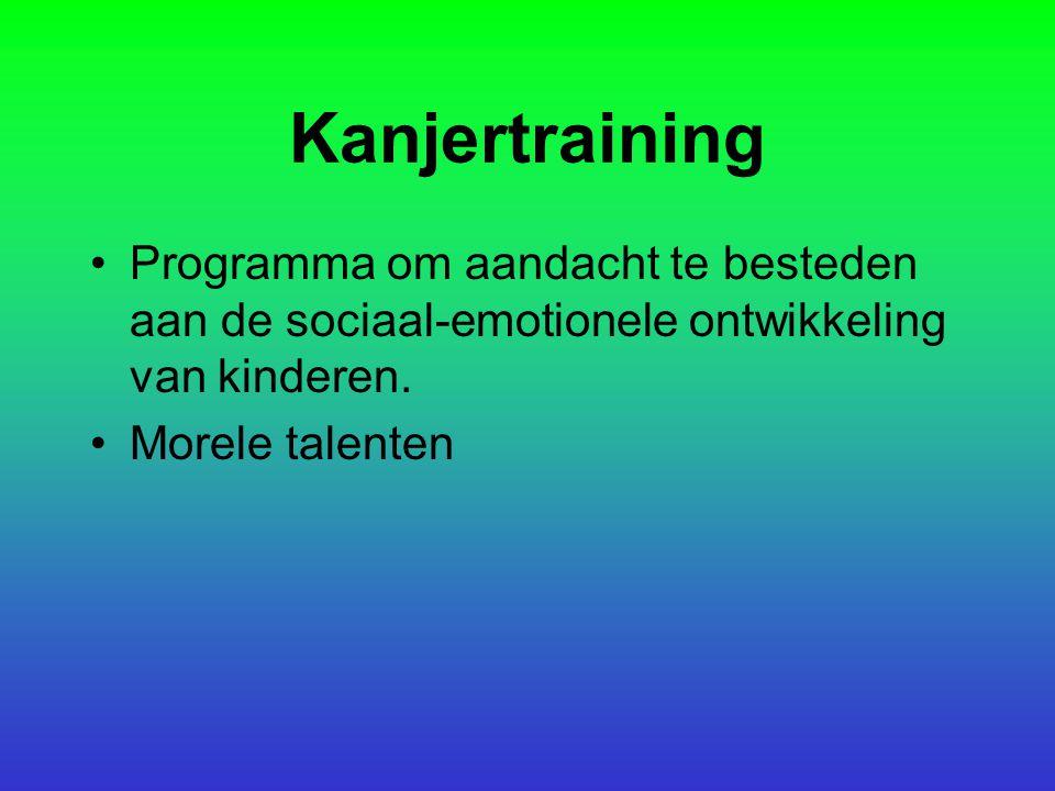 Kanjertraining Programma om aandacht te besteden aan de sociaal-emotionele ontwikkeling van kinderen. Morele talenten
