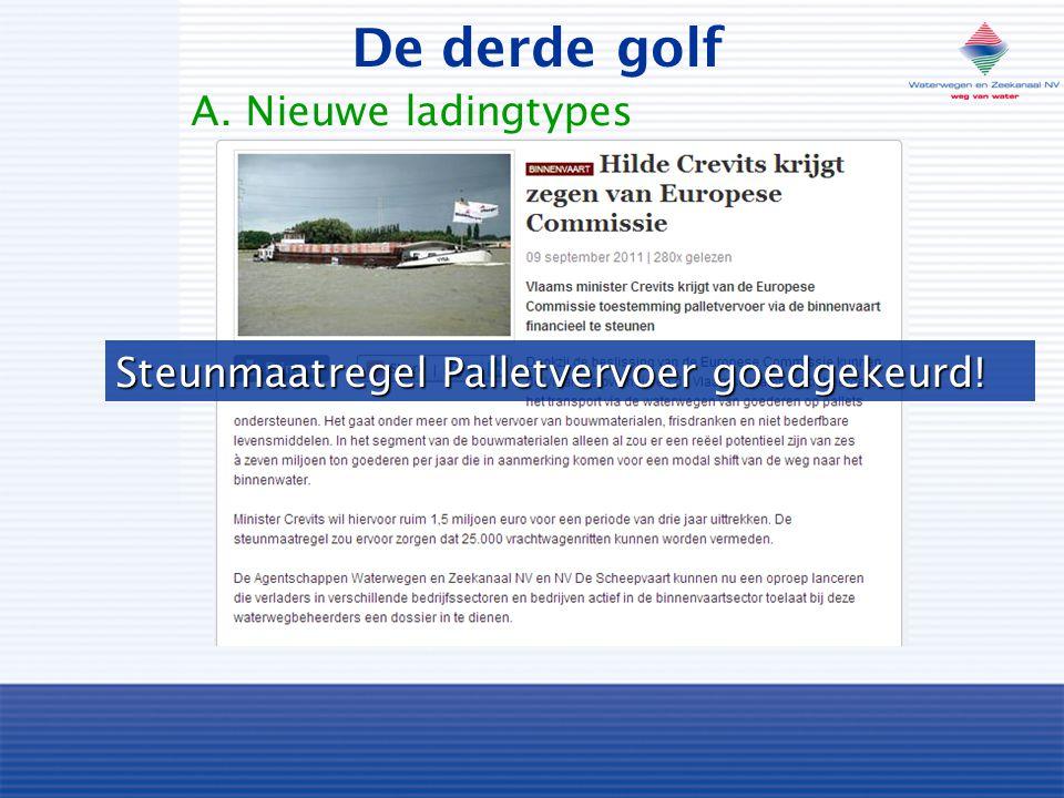 Steunmaatregel Palletvervoer goedgekeurd! De derde golf A. Nieuwe ladingtypes