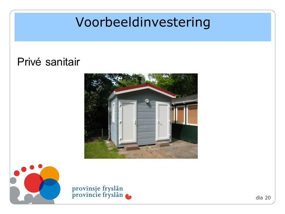 Voorbeeldinvestering Privé sanitair dia 20