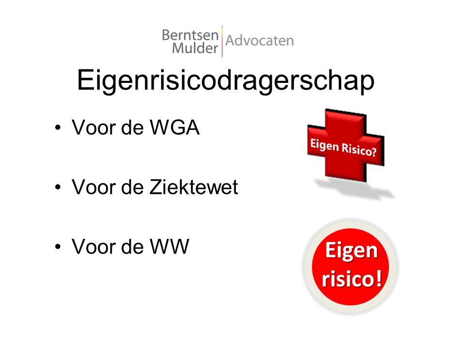 Eigenrisicodragerschap Voor de WGA Voor de Ziektewet Voor de WW