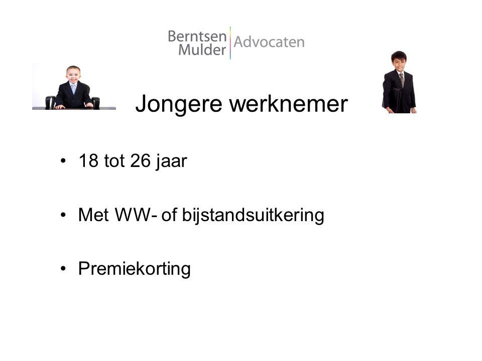 Jongere werknemer 18 tot 26 jaar Met WW- of bijstandsuitkering Premiekorting