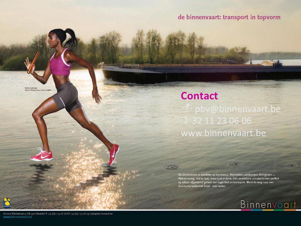 Contact  pbv@binnenvaart.be  32 11 23 06 06 www.binnenvaart.be