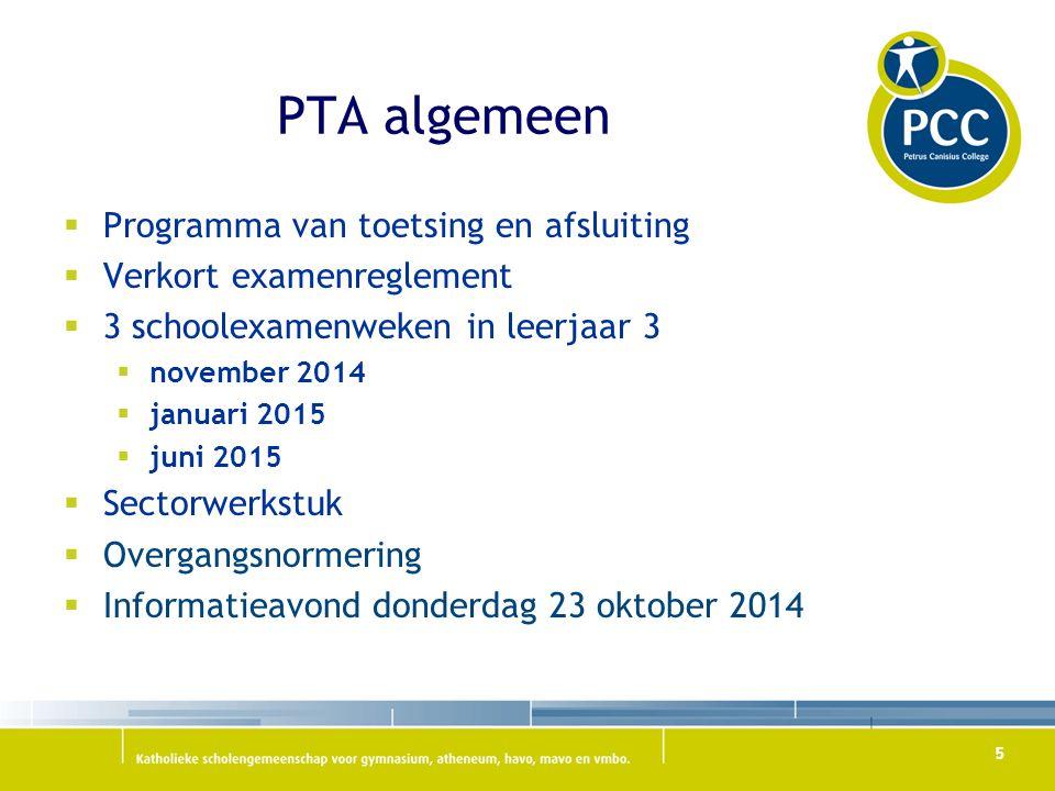 PTA nieuwe vakken  Maatschappijleer-1 (MA-1)  Kunstzinnige vorming-1 (KV1)  Intersectoraal programma (IS)  Lichamelijke opvoeding.