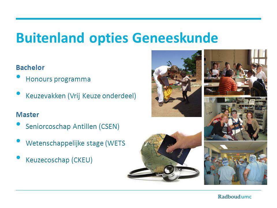 Radboud Universiteit: SNUF Studie & stage EU € 200,- per maand niet-EU€ 300,- per maand Coschap EU € 150,- per maand niet-EU€ 200,- per maand -Minimaal 2 maanden, maximale 4 maanden vergoed -Niet in combinatie met Erasmus.