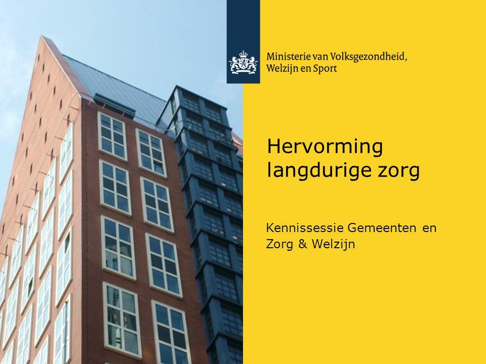 Hervorming langdurige zorg Kennissessie Gemeenten en Zorg & Welzijn