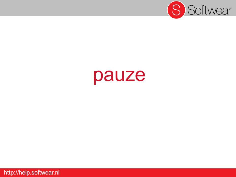 http://help.softwear.nl pauze
