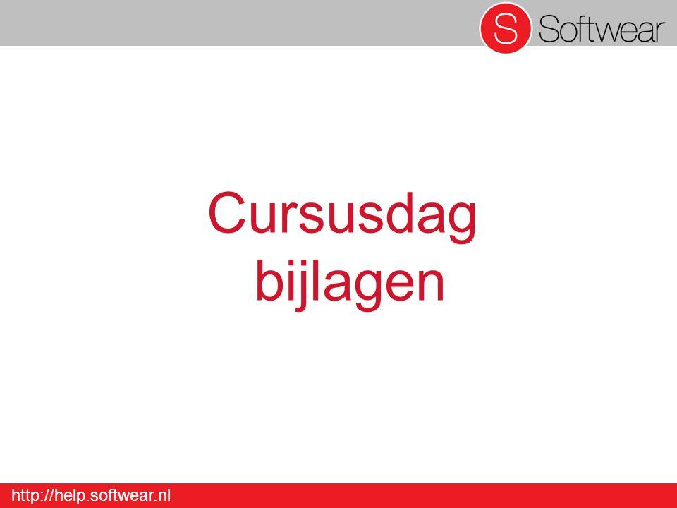 http://help.softwear.nl Cursusdag bijlagen