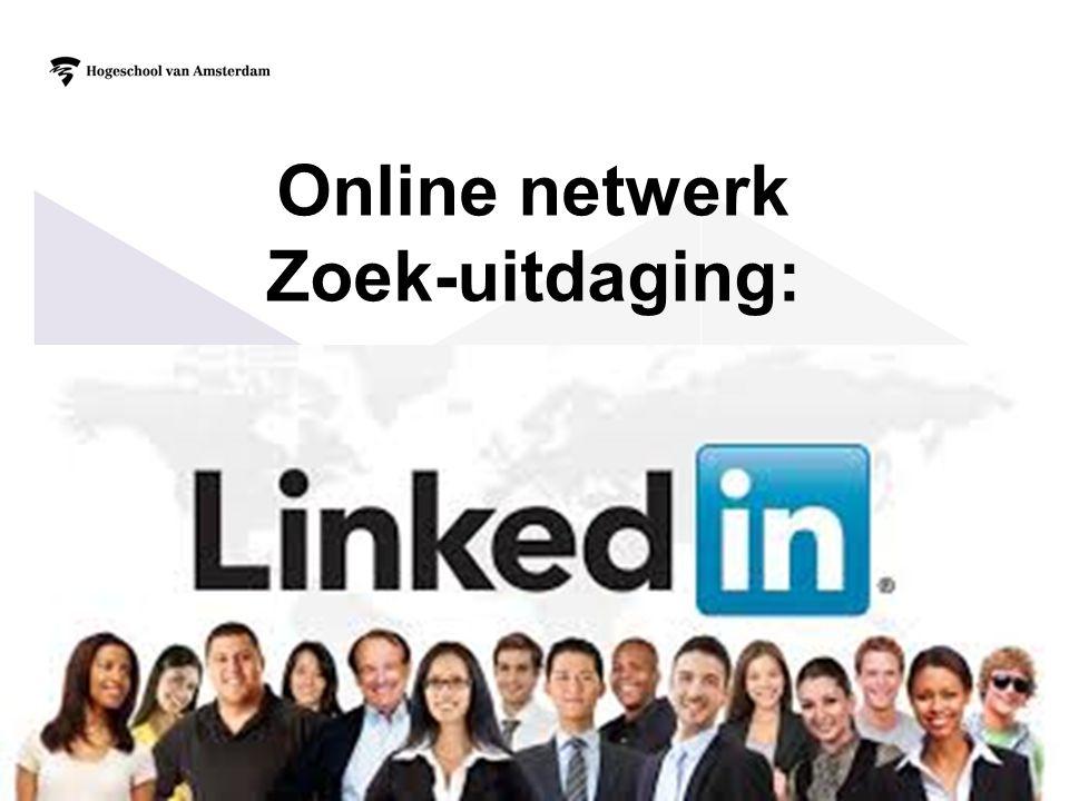 21 Online netwerk Zoek-uitdaging:
