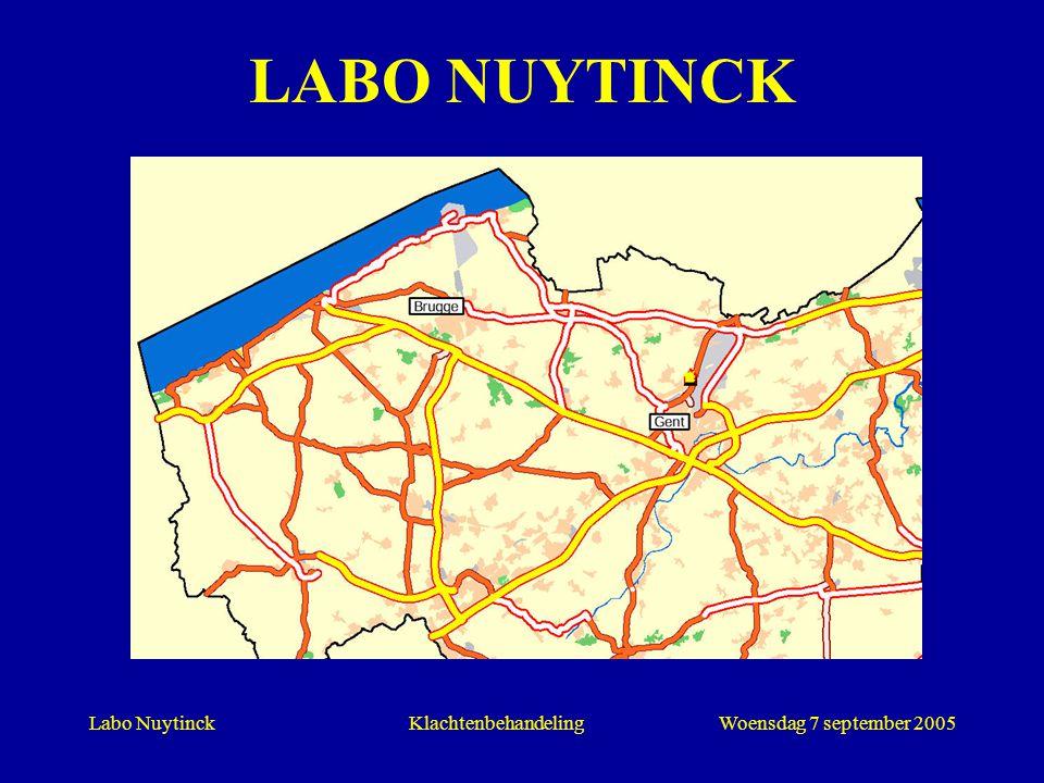 Labo NuytinckWoensdag 7 september 2005Klachtenbehandeling LABO NUYTINCK