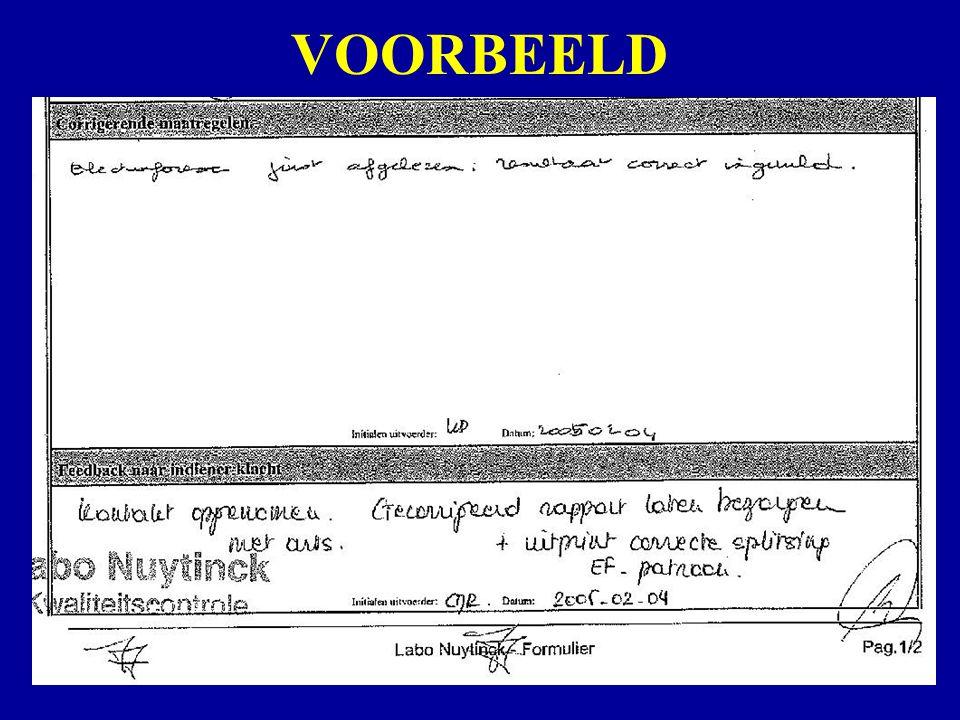 Labo NuytinckWoensdag 7 september 2005Klachtenbehandeling TURN AROUND TIJDEN: BENADERING Punt 4.3 (resultaat te laat) was in 2004 de vierde meest geformuleerde klacht.