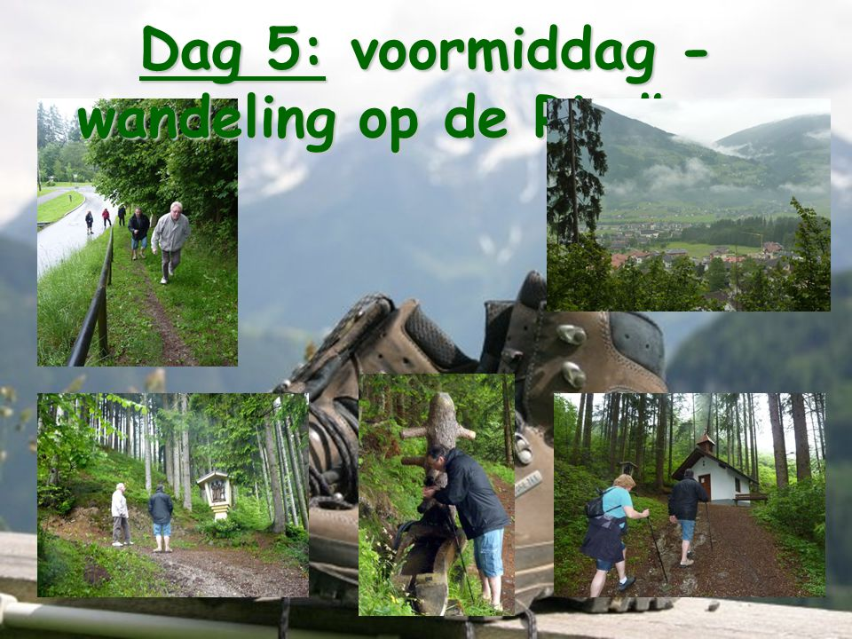 Dag 5: voormiddag - wandeling op de Riedberg
