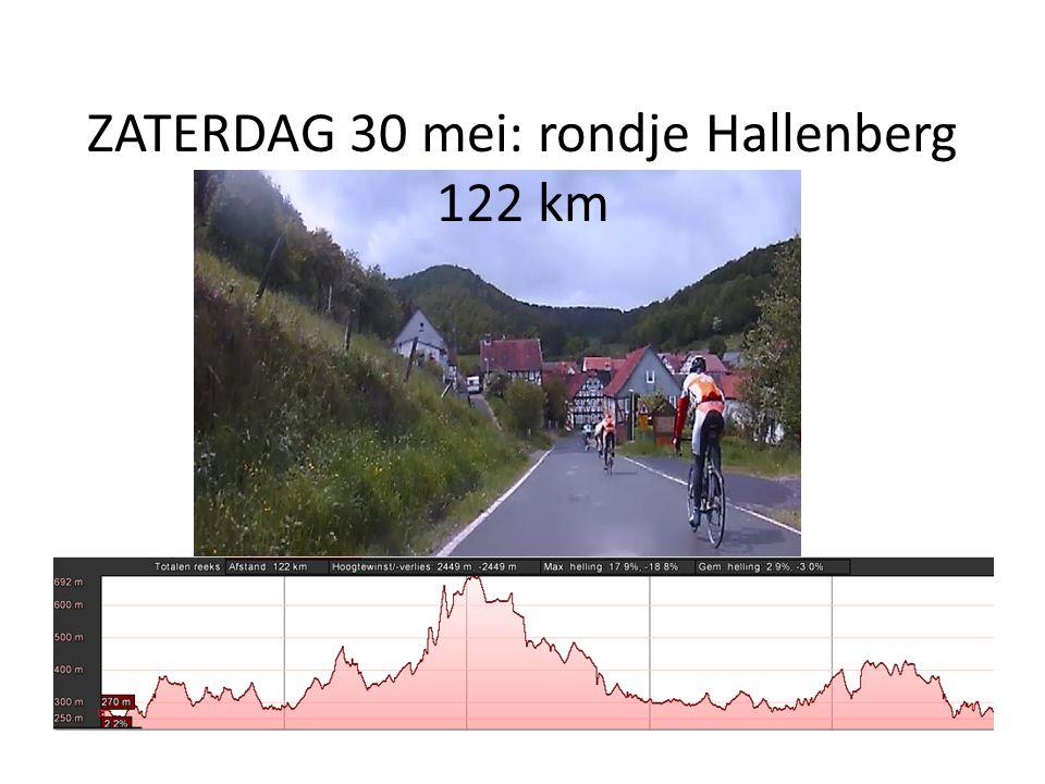 ZATERDAG 30 mei: rondje Hallenberg 122 km