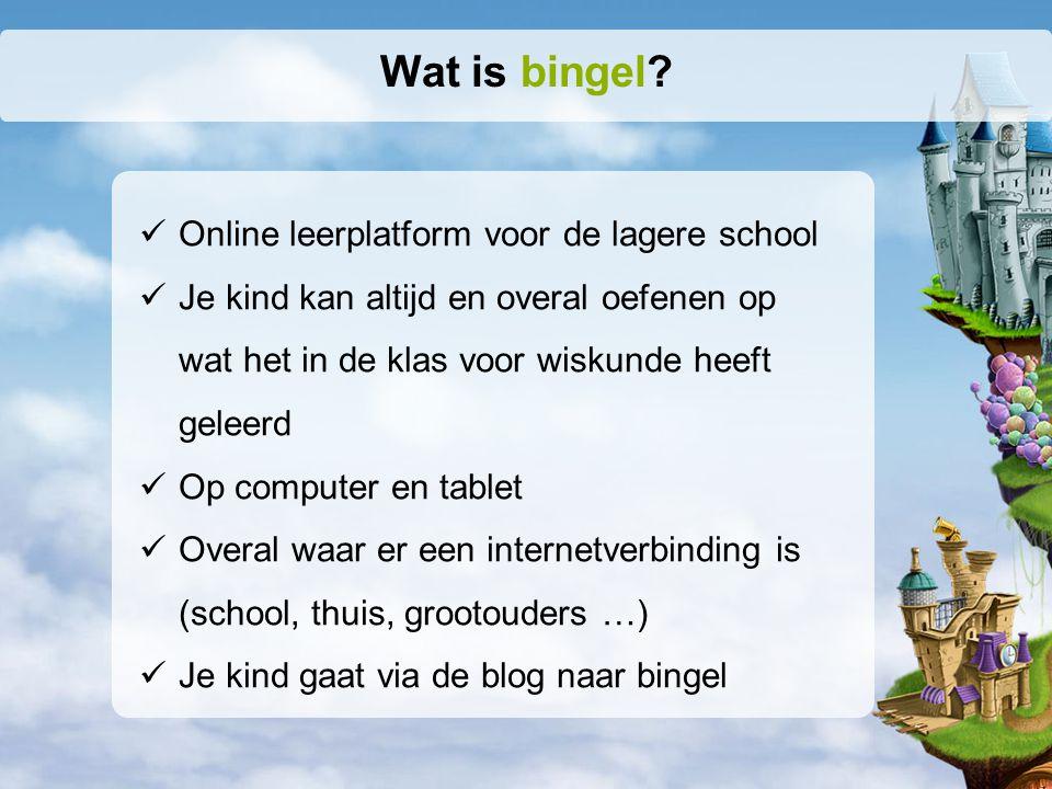 Online leerplatform voor de lagere school Je kind kan altijd en overal oefenen op wat het in de klas voor wiskunde heeft geleerd Op computer en tablet