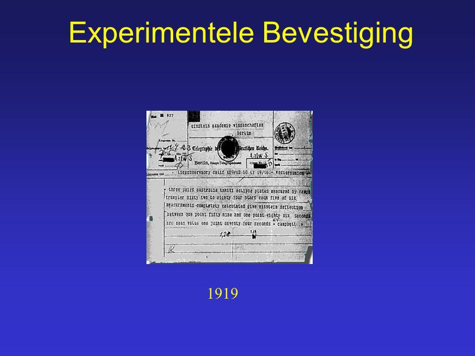 Experimentele Bevestiging 1919