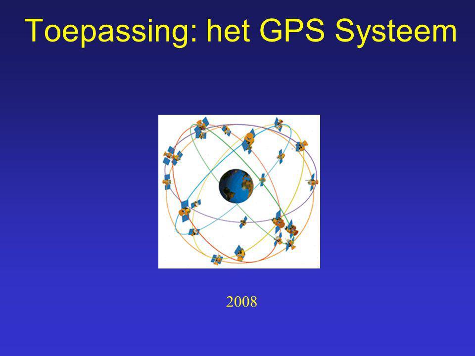 Toepassing: het GPS Systeem 2008