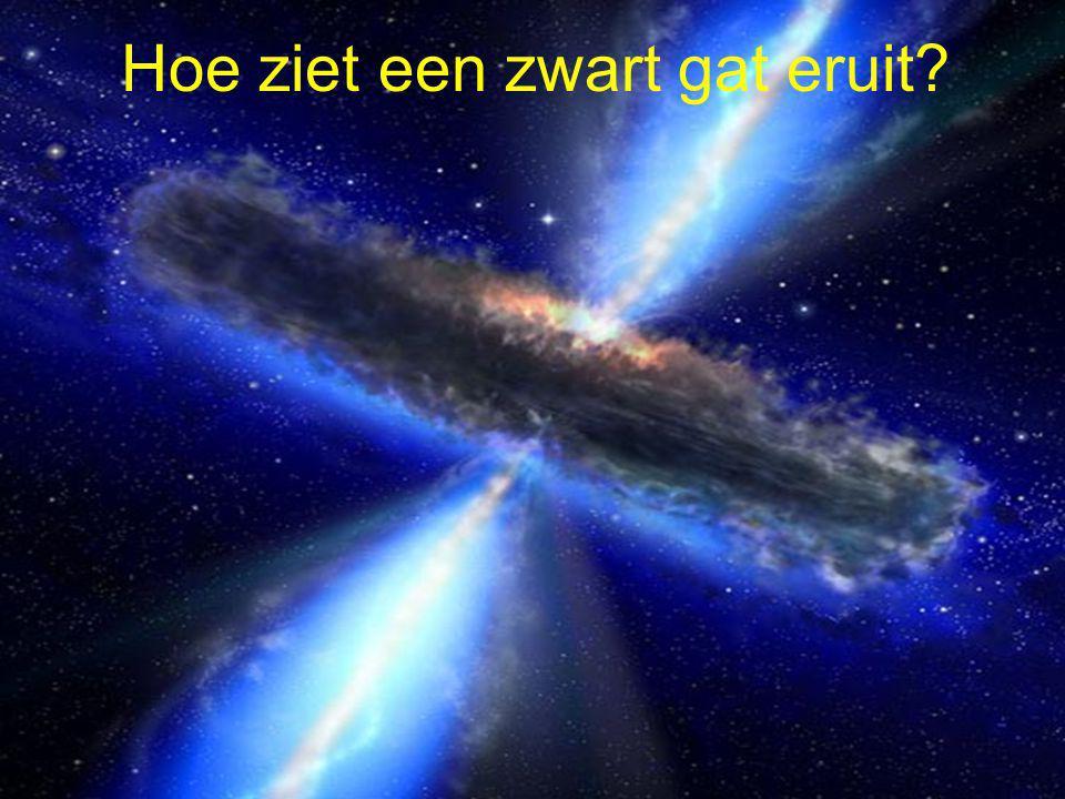 Hoe ziet een zwart gat eruit
