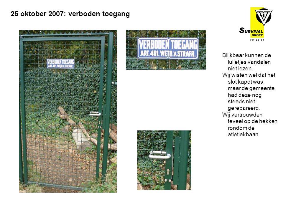 Blijkbaar kunnen de lulletjes vandalen niet lezen. Wij wisten wel dat het slot kapot was, maar de gemeente had deze nog steeds niet gerepareerd. Wij v