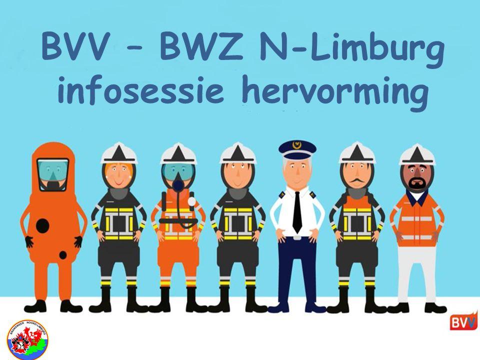 "Brandweerhervorming BVV "" BVV – BWZ N-Limburg infosessie hervorming"