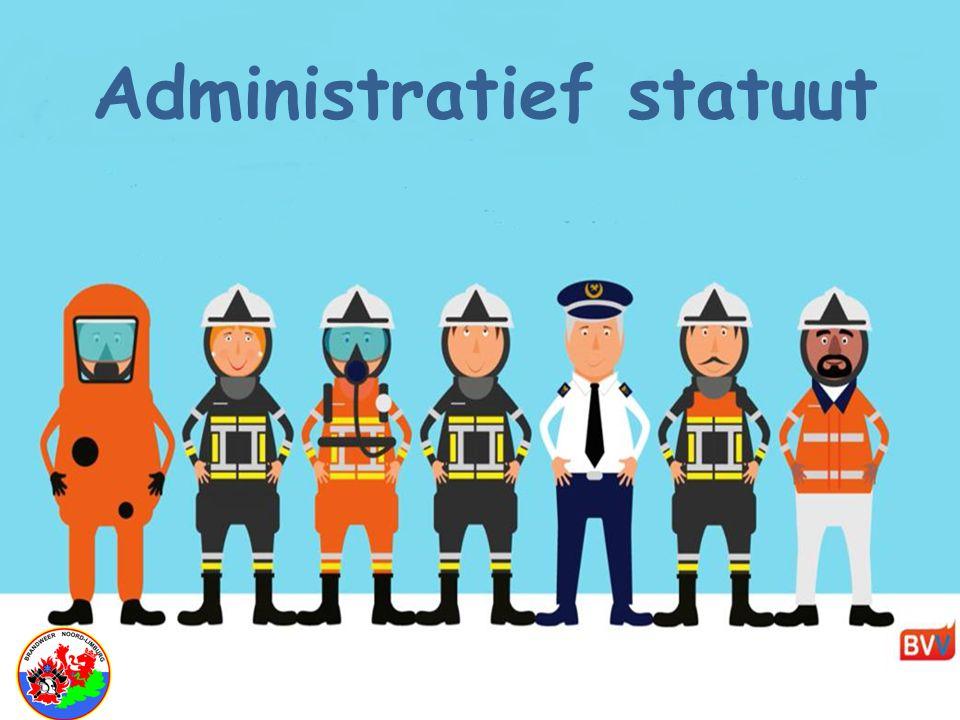"""Brandweerhervorming BVV """" Administratief statuut"""