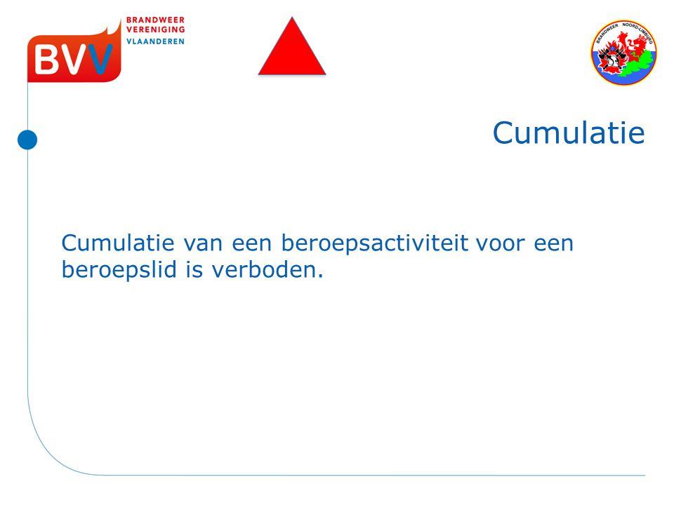Cumulatie van een beroepsactiviteit voor een beroepslid is verboden. Cumulatie