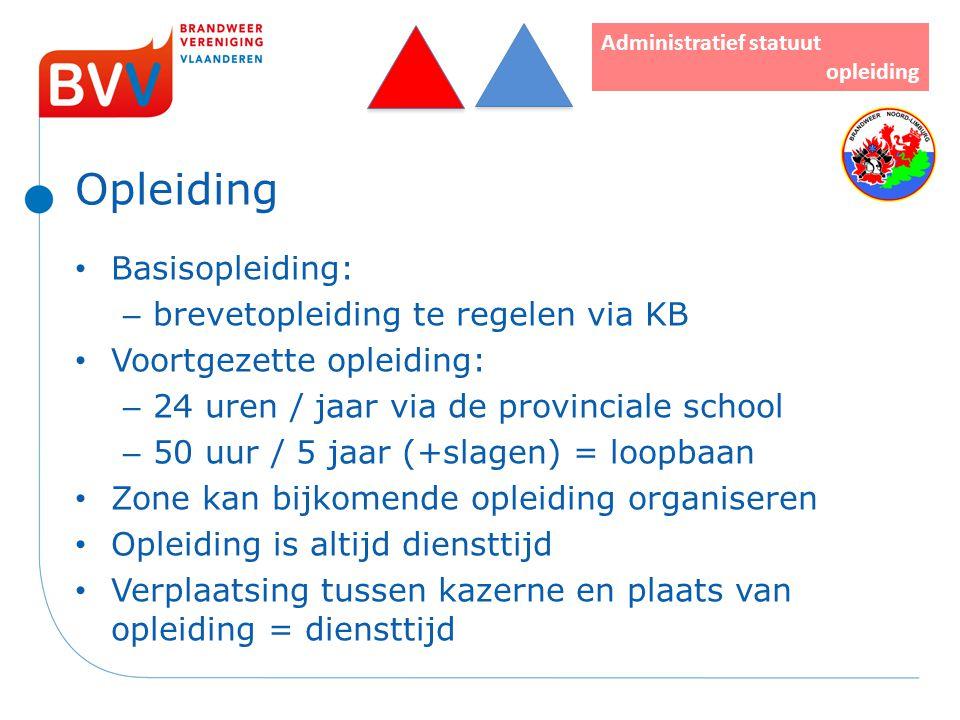 Opleiding Basisopleiding: – brevetopleiding te regelen via KB Voortgezette opleiding: – 24 uren / jaar via de provinciale school – 50 uur / 5 jaar (+s