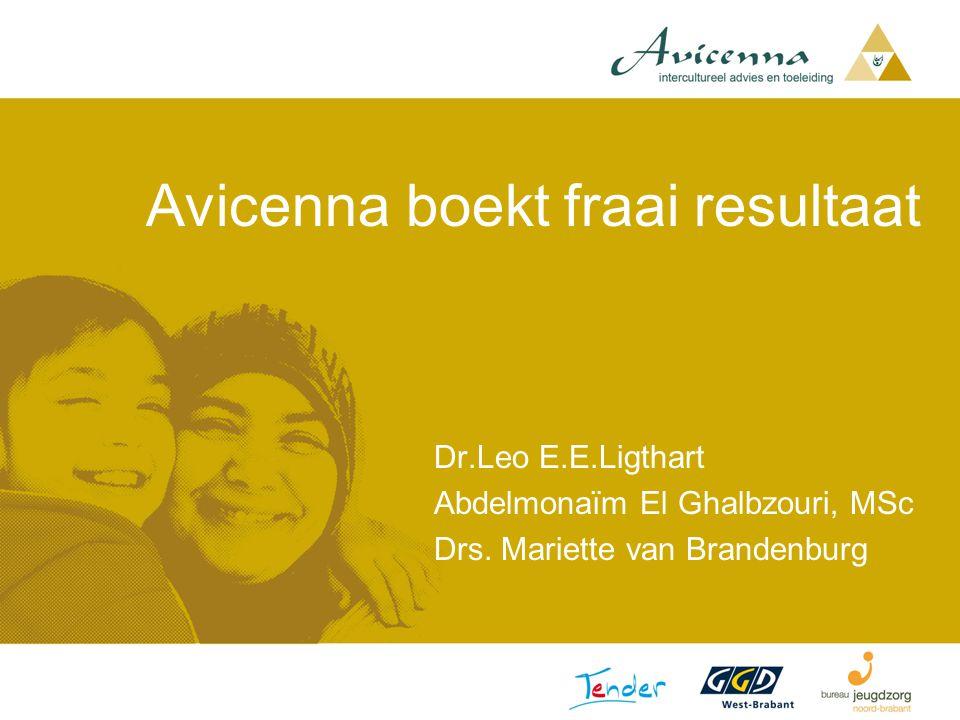 Avicenna boekt fraai resultaat Dr.Leo E.E.Ligthart Abdelmonaïm El Ghalbzouri, MSc Drs. Mariette van Brandenburg